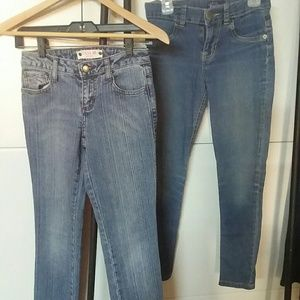 6 pair of girls jeans size 10